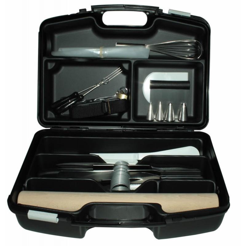 Mallette Pro couteaux et ustensiles Pâtisserie 21 pièces
