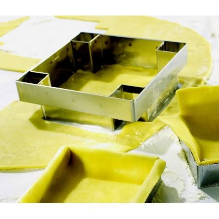 Découpoirs inox pour fond de tarte carré
