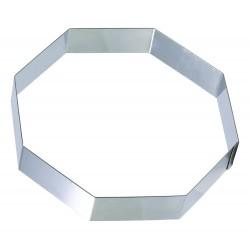Cadre inox forme octogonale pour entremets