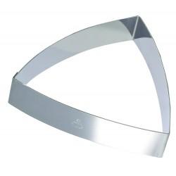 Cadre inox pour entremet forme triangle bombé