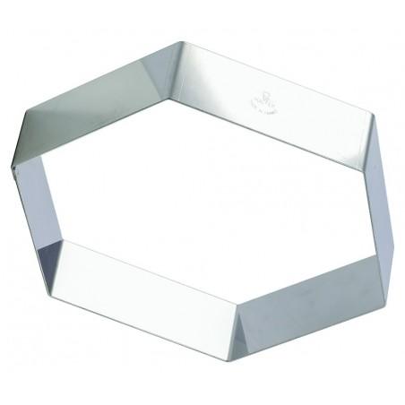 Cadre inox pour entremet forme hexagonale