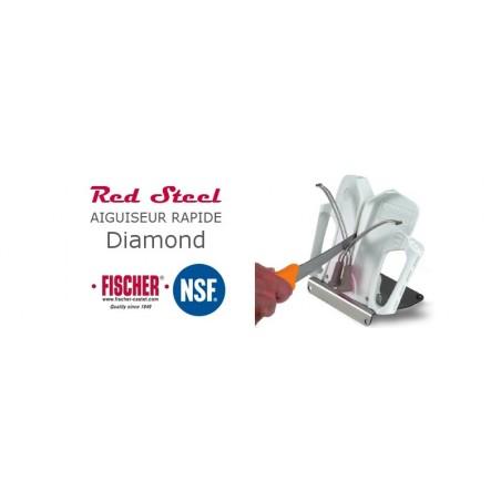 Aiguiseur Red Steel Diamant avec socle FISCHER
