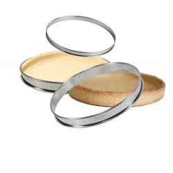 Cercle à tarte inox bords roulés GOBEL