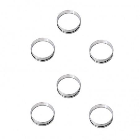 Cercle à tarte inox diamètre 180