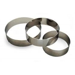 Cercle à entremets inox diamètre 180