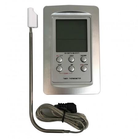 Thermomètre électronique -50°/+300°C avec minuteur intégré Alla®