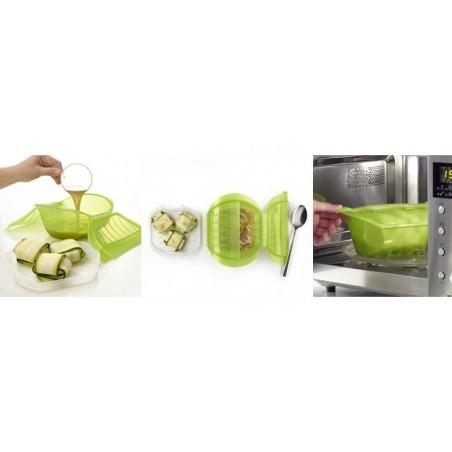 Cocotte micro-onde avec filtre verte