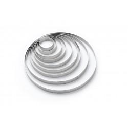 Cercle à tarte perforé VALRHONA inox de Buyer