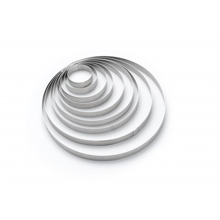 Cercle à tarte perforé VALRHONA de Buyer