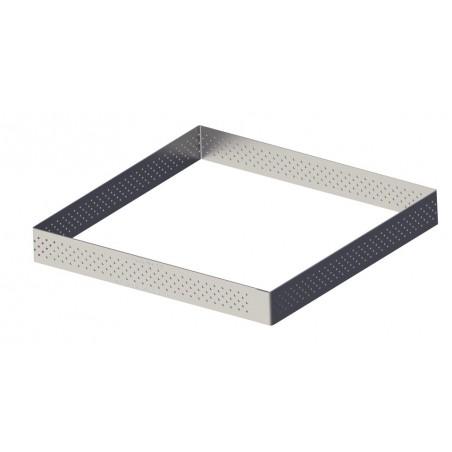 Cercle à tarte perforé VALRHONA inox carré de Buyer