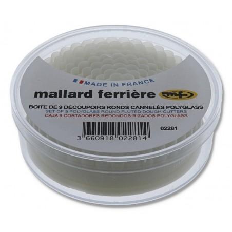 Boîte de 9 découpoirs cannelés plastique MALLARD