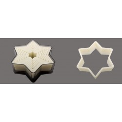 Boîte de 7 découpoirs UNIS plastiques étoiles 6 branches