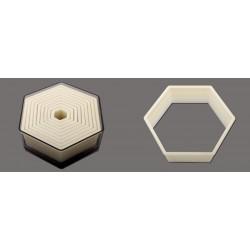 Boîte de 9 découpoirs UNIS plastiques hexagonaux